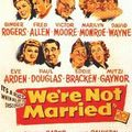 Fiche du film we're not married