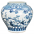 Important blue and white Guan vase. China, Ming dynasty. Photo AUKTIONSHAUS KAUPP GMBH