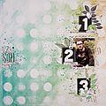 Page de scrap/ dt cocoa daisy