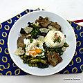 Cocotte de légumes du printemps et oeufs vapeur