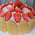 <b>Charlotte</b> aux <b>fraises</b>