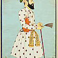 A large portrait of Emperor Alamgir (Aurangzeb) at the age of sixty, India, Deccan, probably Golconda, circa <b>1700</b>