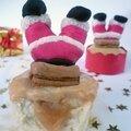 Cupcakes légers de noël à la pomme et au caramel