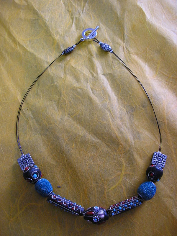collier indien turquoise