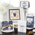 Cartes de voeux florales bleues et blanches