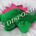 Peluche Doudou Dinosaure Vert Et Rose <b>Pampers</b>