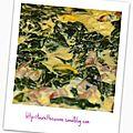 Omelette aux feuilles de blettes et petits lardons