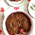 Cobbler très coco fraise-rhubabrbe (vegan)