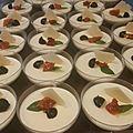 Panna cotta au parmesan, tomate séchée & jambon cru