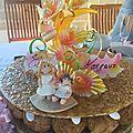 Figurine gâteau baptême soeur