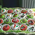 Muffins anniversaire en couleur