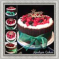 Layer cake fruits rouges