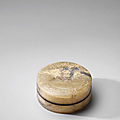 A very rare <b>grey</b> <b>jade</b> circular box and cover, Han Dynasty (206 BCE-220 CE)