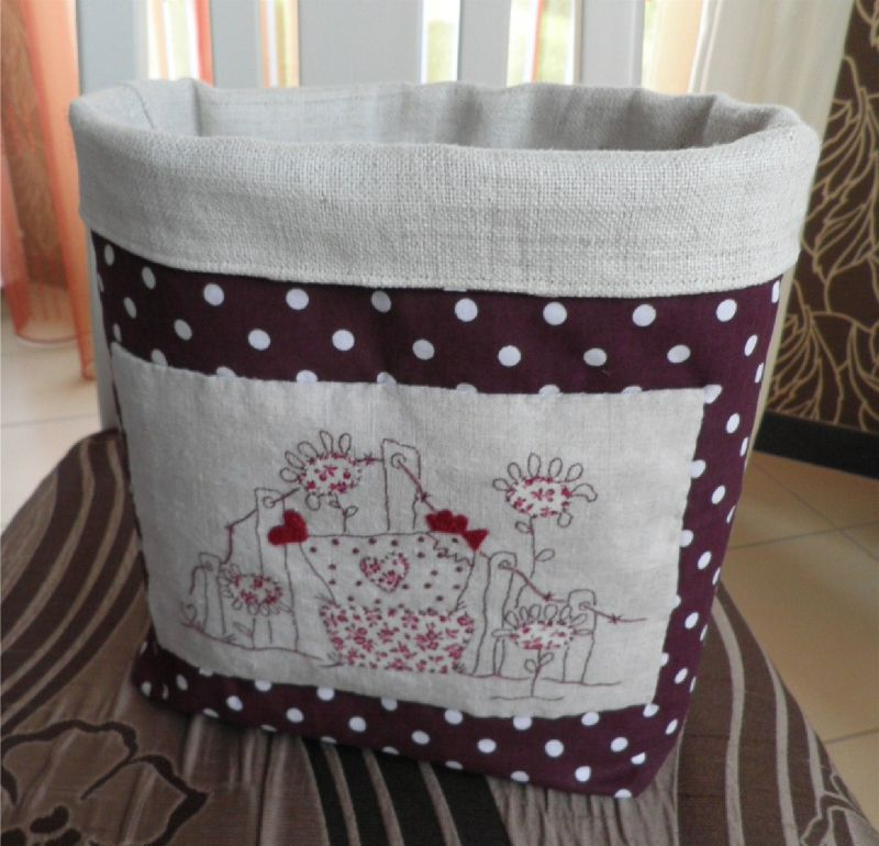 pot tissu little red hen