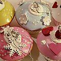 Boules de Noël, cupcakes