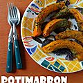 Potimarron rôti au pesto