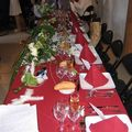 Décoration de la salle tables des mariés