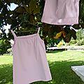 Haut à bretelles pour pyjama d'été