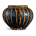 A russet-painted black-glazed jar, Northern <b>Song</b>-<b>Jin</b> <b>dynasty</b> (960-1234)