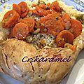 Tajine de poulet aux carottes et aux olives vertes