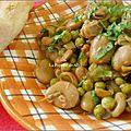 Fèves et petits pois en sauce (algérie)