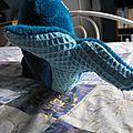 queue baleine en tissu