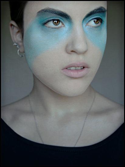 Mask of blue