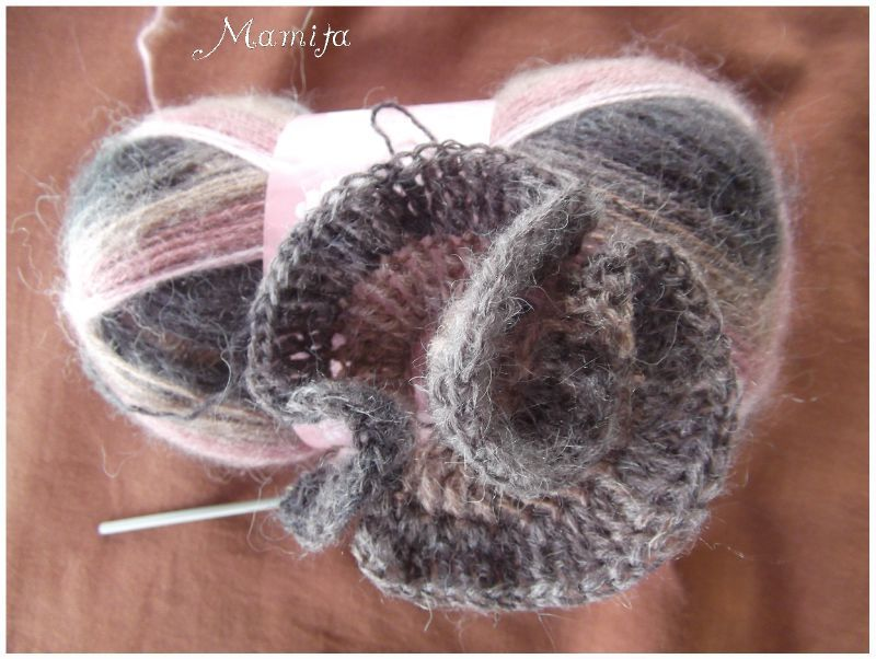 tricoter une echarpe froufrou