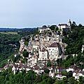 Rocamadour, cité mediévale - lot (vallée de la dordogne)