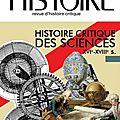 Ch - histoire critique des sciences xvi-xviii