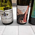 Dîner entre oenophiles du Nord : Ostertag Riesling Muenchberg 2011, Anne-Claude Leflaive : Puligny-Montrachet 1996