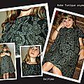 Couture: robe tunique asymétrique