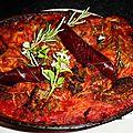 Lasagnes sans gluten, à la sauce tomate, farce et viande de grison