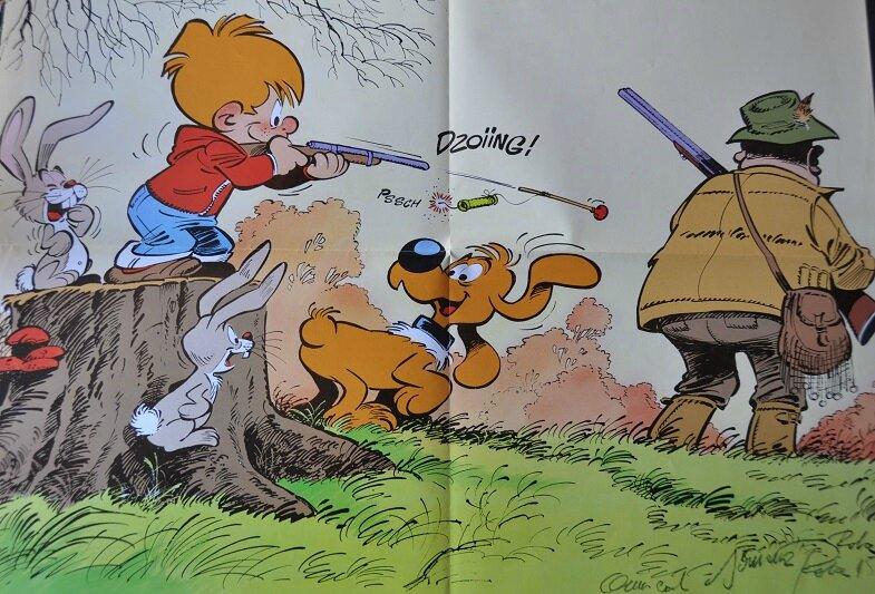 Affiche Boule et Bill, signé par Peyo