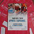 Denier de <b>l</b>'<b>Eglise</b> 2014 : lancement de la campagne : 15 et 16 mars 2014