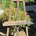 Chevalet de peintre en bois