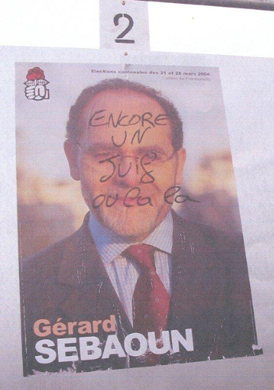 Campagne électorale cantonales 2004