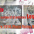 Exposition du collectif les reines margot, exposition à la foire expo de pau