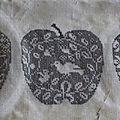pommes : première rangée