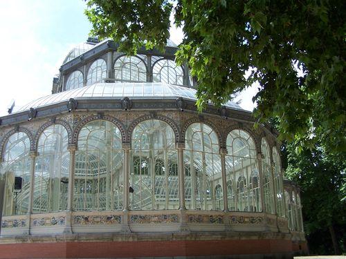 Madrid-Parque del Buen Retiro - palacio de cristal