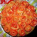 Tarte aux pommes façon rose