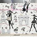 Pêle-mêle Paris blanc noir rose pinces fleurs