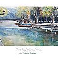 Pont des Amours, aquarelle d'Annecy