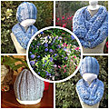 SNOOD(point turc) BONNET(<b>cotes</b> 2/2)