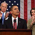Discours sur l'Etat de L'union : Obama défend la « middle class » et des présidents… républicains.