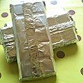 Chocolat blanc aux pralines