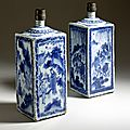 Pair of Bottles, China, Ming dynasty, Tianqi (1621-27) or Chongzhen (1628-44) reign