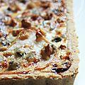 Tarte aux noix - gorgonzola et poires