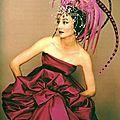 Jacqueline de ribes in a dior dress & headdress by raymundo de larrain for alexis de redé's bal de têtes, 1957