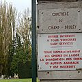 Le cimetière du champ-bruley